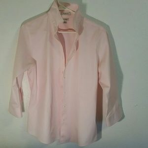 L.L. Bean Cotton Pastel Pink Button Down Shirt M